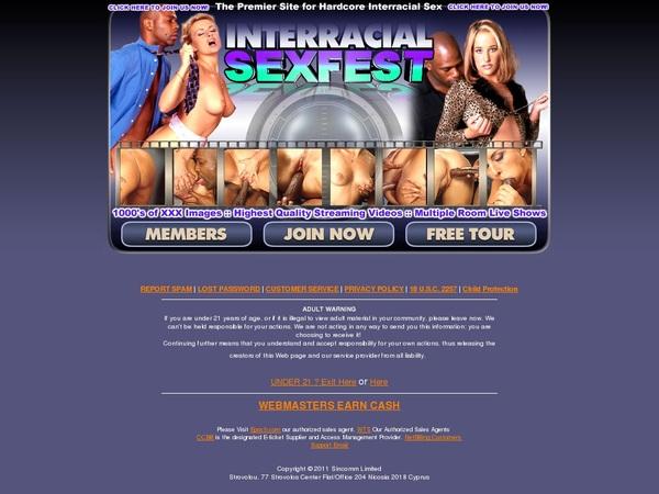 Login For Interracialsexfest.com