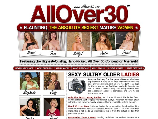 Allover30.com Using Paypal