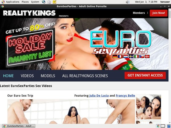 Euro Sex Parties Free Trial Signup