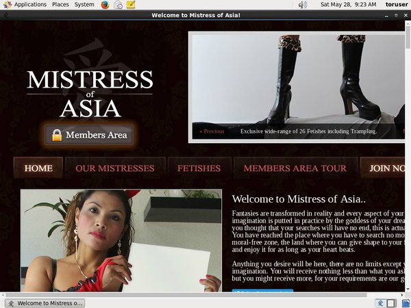 Mistress Of Asia By SMS