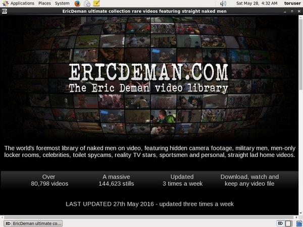 Eric Deman Discount Off